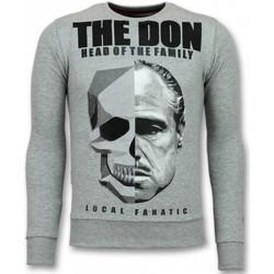 textil Herr Sweatshirts Local Fanatic Godfather Padrino The Don G Grå