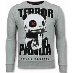 textil Herr Sweatshirts Local Fanatic Terror Panda G Grå