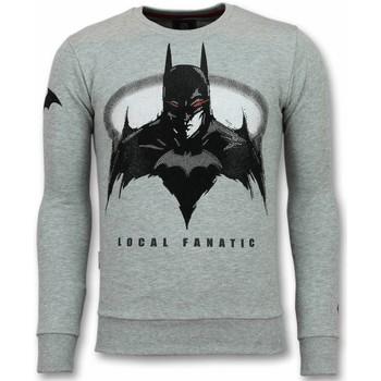 textil Herr Sweatshirts Local Fanatic Rhinestone Bat G Grå
