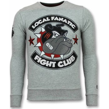 textil Herr Sweatshirts Local Fanatic Fight Club Bulldog G Grå