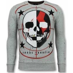 textil Herr Sweatshirts Local Fanatic Skull God Of War Swea For Men G Grå