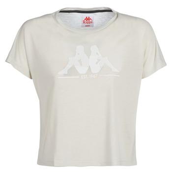 textil Dam T-shirts Kappa YERRI Beige / Grå