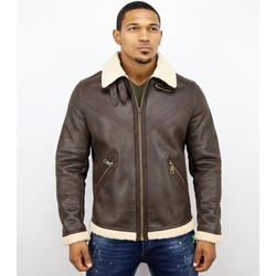 textil Herr Skinnjackor & Jackor i fuskläder Warren Webber Lammy Coat Imitation Fake Fur Coat Brun