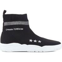 Skor Dam Höga sneakers Chiara Ferragni CF1948 BLACK nero