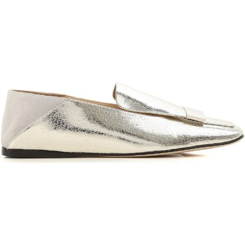 Skor Dam Loafers Sergio Rossi A77990 MFN305 8198 argento