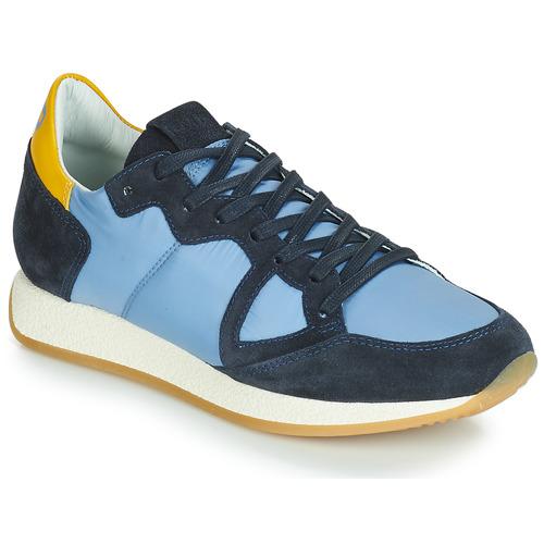 Skor Dam Sneakers Philippe Model MONACO VINTAGE BASIC Blå / Gul