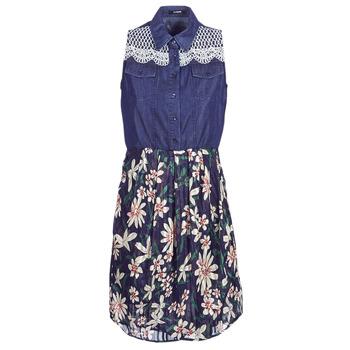 textil Dam Korta klänningar Desigual ALOHA Marin