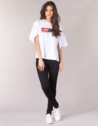 textil Dam Skinny Jeans Diesel SLANDY Svart