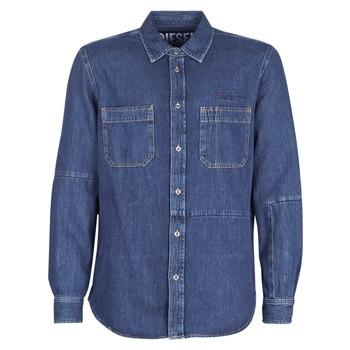 textil Herr Långärmade skjortor Diesel D FRED Blå