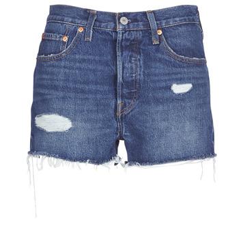 textil Dam Shorts / Bermudas Levi's 502 HIGH RISE SHORT Blå