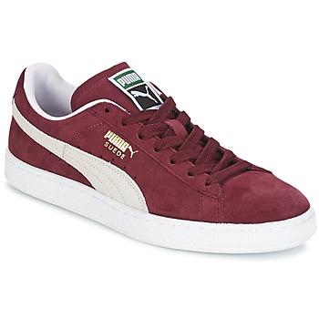 Skor Sneakers Puma SUEDE CLASSIC Röd / Vit