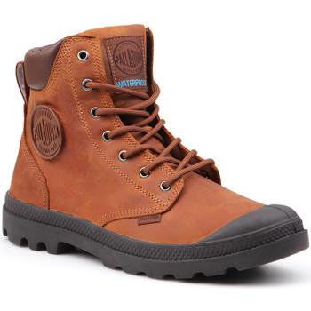Skor Herr Boots Palladium Manufacture Pampa Cuff WP Lux 73231-733-M brown