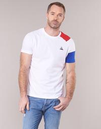 textil Herr T-shirts Le Coq Sportif ESS Tee SS N°10 M Vit / Röd / Blå
