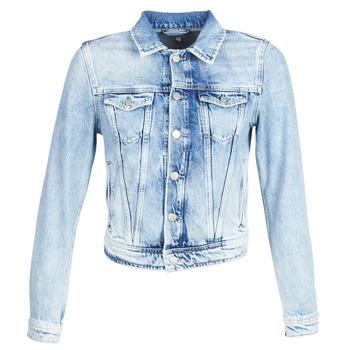textil Dam Jeansjackor Pepe jeans CORE Blå / Ljus