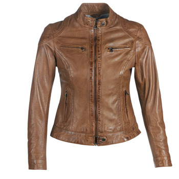textil Dam Skinnjackor & Jackor i fuskläder Oakwood LINA Cognac