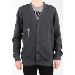 textil Herr Koftor / Cardigans / Västar Reebok Sport Bas Revenge SS Black K11904 grey