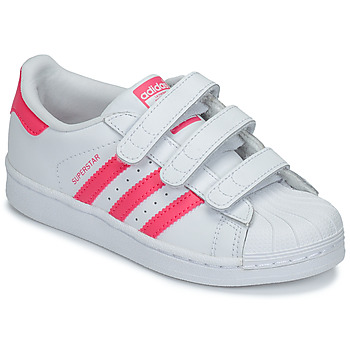 Skor Flickor Sneakers adidas Originals SUPERSTAR FOUNDATIO Vit / Rosa