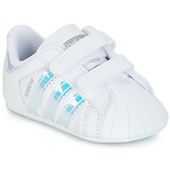 Skor Flickor Sneakers adidas Originals SUPERSTAR CRIB Vit
