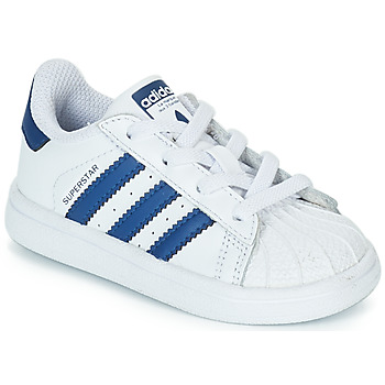 Skor Barn Sneakers adidas Originals SUPERSTAR EL Vit / Blå