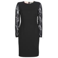 textil Dam Korta klänningar Lauren Ralph Lauren LACE PANEL JERSEY DRESS Svart