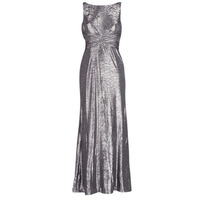 textil Dam Långklänningar Lauren Ralph Lauren SLEEVELESS EVENING DRESS GUNMETAL Grå / Silver