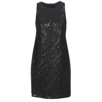 textil Dam Korta klänningar Lauren Ralph Lauren SEQUINED SLEEVELESS DRESS Svart