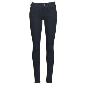 textil Dam Skinny Jeans G-Star Raw LYNN D-MID SUPER SKINNY Blå / Rinsed