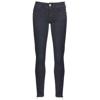 textil Dam Skinny Jeans G-Star Raw LYNN ZIP MID SKINNY ANKLE Blå / Mörk / Persikofärgad