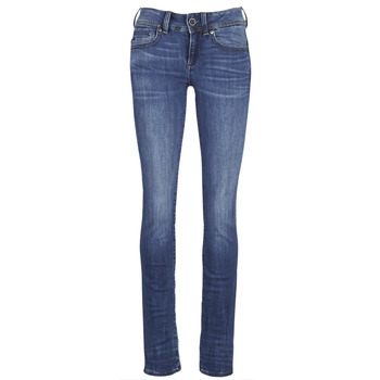 textil Dam Raka byxor G-Star Raw MIDGE SADDLE MID STRAIGHT Blå / Indigo
