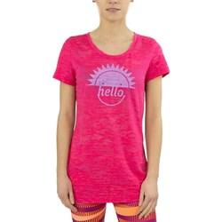 textil Dam T-shirts Reebok Sport RH Burnout Tshirt Rosa