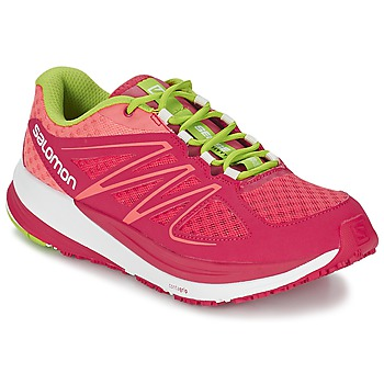 Skor Dam Löparskor Salomon SENSE PULSE WOMAN Rosa / Orange / Grön