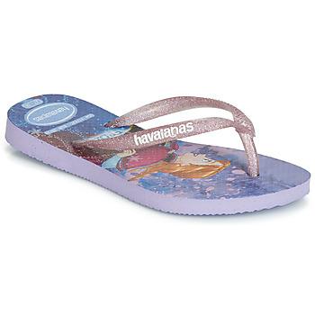 Skor Flickor Flip-flops Havaianas KIDS SLIM FROZEN Violett