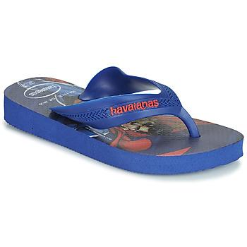 Skor Pojkar Flip-flops Havaianas KIDS MAX HEROIS Blå
