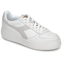 Skor Dam Sneakers Diadora B ELITE WIDE Vit / Mullvadsfärgad