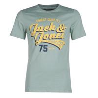 textil Herr T-shirts Jack & Jones JJELOGO Grön