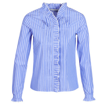 textil Dam Skjortor / Blusar Maison Scotch LONG SLEEVES SHIRT Blå / Ljus