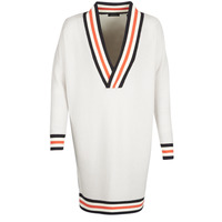 textil Dam Tröjor Maison Scotch WHITE LONG SLEEVES Vit / Krämfärgad