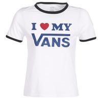 textil Dam T-shirts Vans VANS LOVE RINGER Vit
