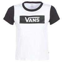 textil Dam T-shirts Vans V TANGLE RANGE RINGER Vit
