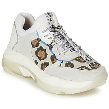 Skor Dam Sneakers Bronx BAISLEY Vit / Leopard