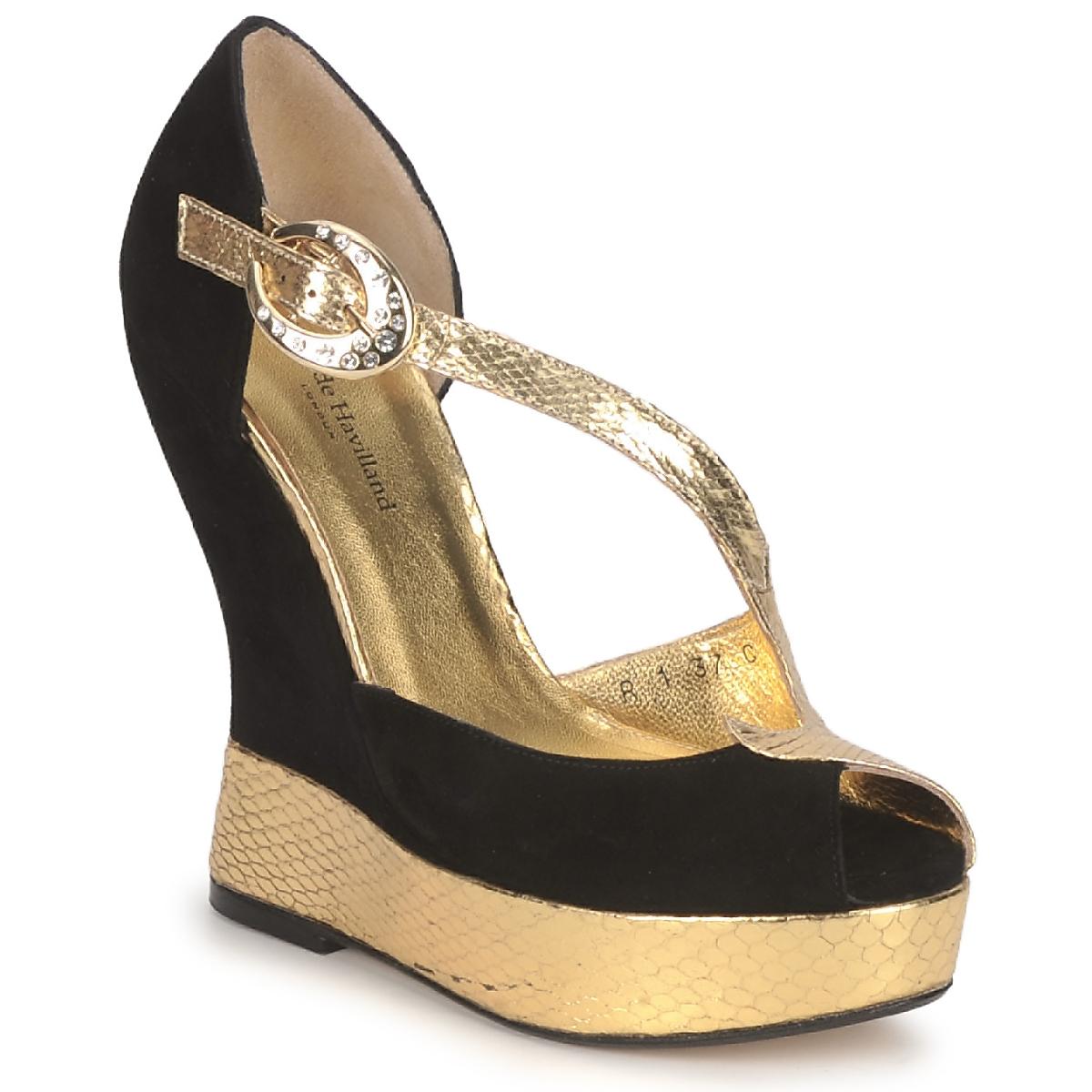 sandaler Terry de Havilland PENNY Svart / Guld