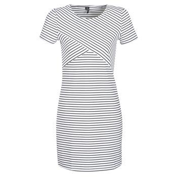 textil Dam Korta klänningar Vero Moda VMVIGGA Vit / Svart