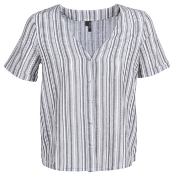 textil Dam Blusar Vero Moda VMESTHER Marin / Vit