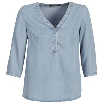 textil Dam Blusar Vero Moda VMTRUDY Blå