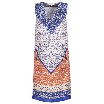 textil Dam Korta klänningar Derhy FORTERESSE Vit / Blå / Orange