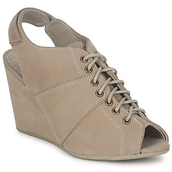Skor Dam Boots No Name DIVA OPEN TOE Beige