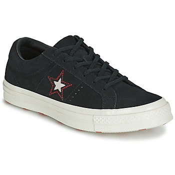 Skor Dam Sneakers Converse ONE STAR LOVE IN THE DETAILS SUEDE OX Svart