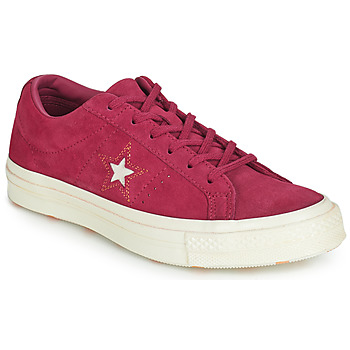 Skor Dam Sneakers Converse ONE STAR LOVE IN THE DETAILS SUEDE OX Fuchsia