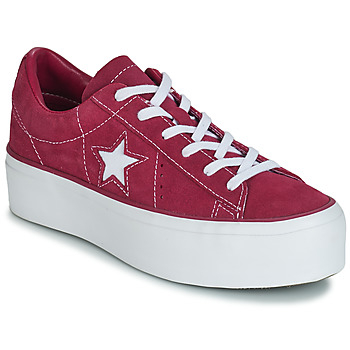 Skor Dam Sneakers Converse ONE STAR PLATFORM SUEDE OX Fuchsia / Vit