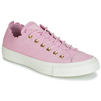 Skor Dam Sneakers Converse CHUCK TAYLOR ALL STAR FRILLY THRILLS SUEDE OX Rosa